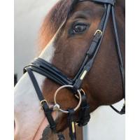 Уздечка с поводом Edinburgh Black/Black от Utzon Equestrian